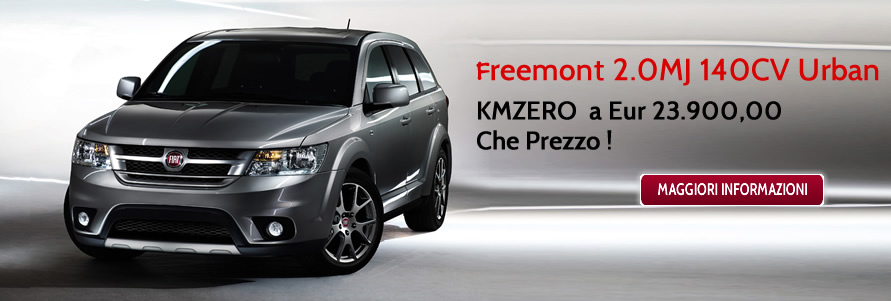 Promozione Freemont 2.0MJ 140CV Urban KM ZERO