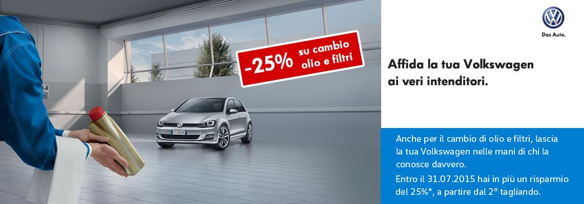 Promo cambio olio e filtri VW