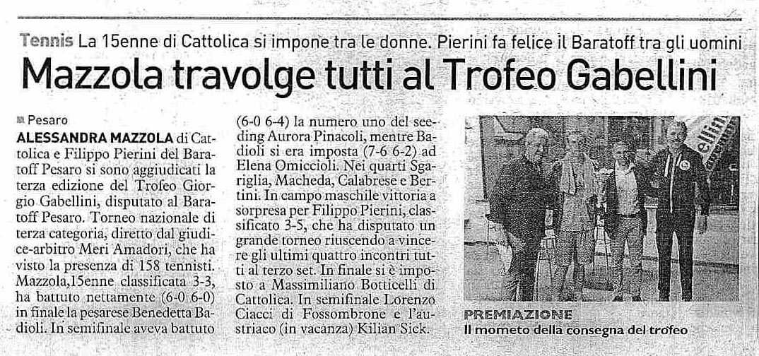 10/09/2014 Mazzola travolge tutti al Trofeo Gabellini