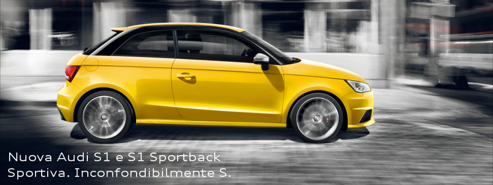 Audi S1 è in concessionaria, ti aspettiamo!