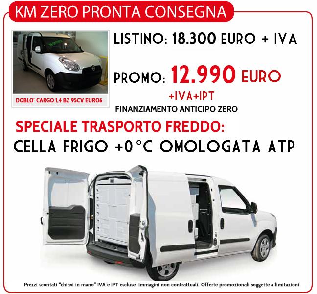 Promozione DOBLO' CARGO 1,4 BZ 95CV EURO6 con Cella Frigorifera