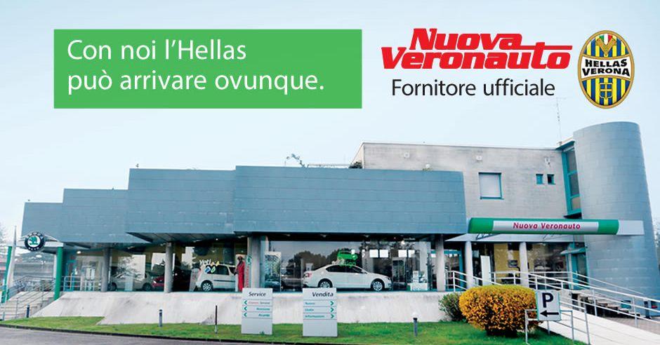 Nuova Veronauto - Banner Fornitore Ufficiale Hellas Verona
