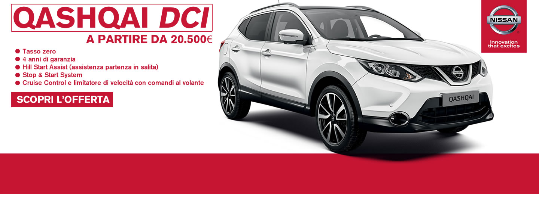 Nissan QASHQAI DCI a partire da €20.500