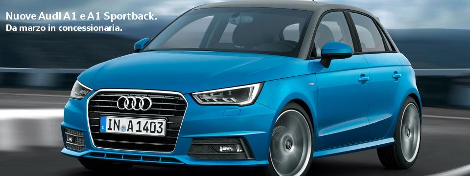 Nuova Audi A1. Da marzo in concessionaria.