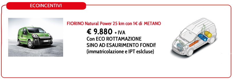 FIORINO Natural Power 25 km con 1€ di METANO