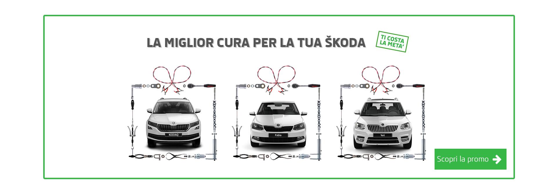 Acquista il pacchetto manutenzione ŠKODA a metà prezzo.