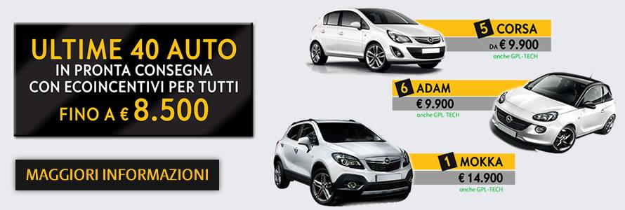 Ultime 40 Auto in Pronta Consegna con Ecoincentivi per Tutti fino a € 8.500