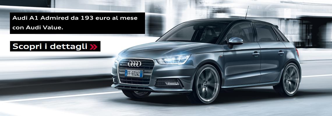 Audi A1 Admired da 193 euro al mese.