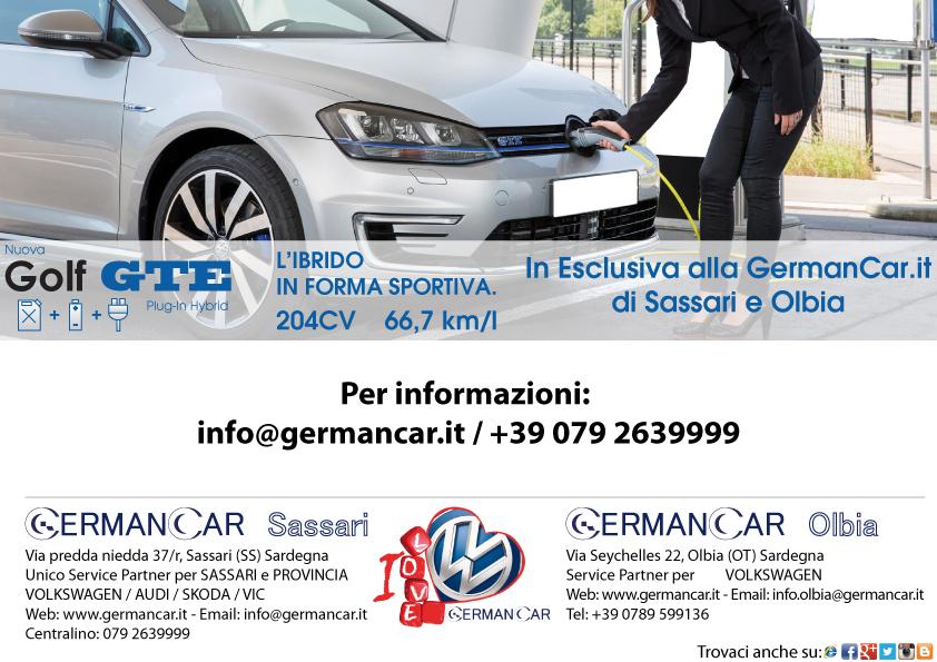 Nuova Golf GTE Plug-in Hybrid (L'IBRIDO IN FORMA SPORTIVA)