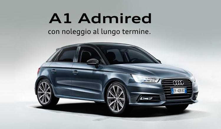 Noleggio a lungo termine Audi A1 Admired a 289€ al mese