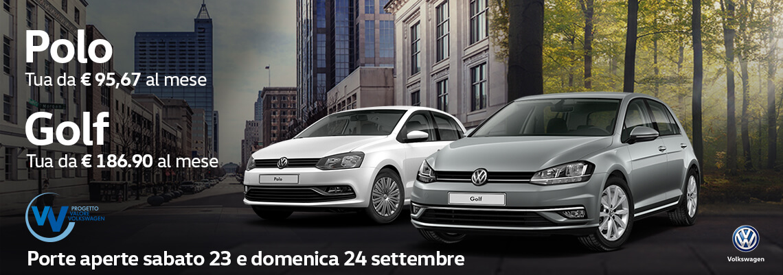 Continuano gli sconti! Polo e Golf a prezzi mai visti con Progetto Valore Volkswagen