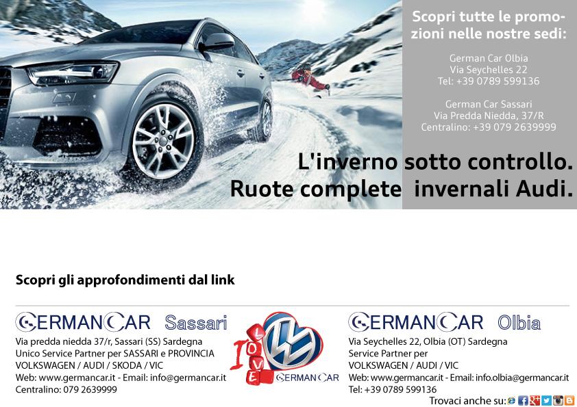 Ruote Complete Invernali Audi  L'inverno sotto controllo.