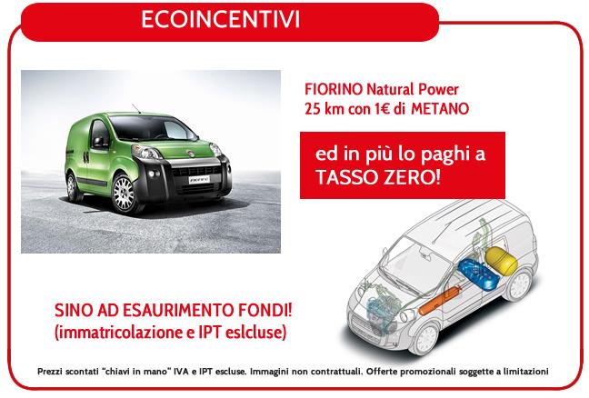 FIORINO Natural Power 25 km con 1€ di METANO