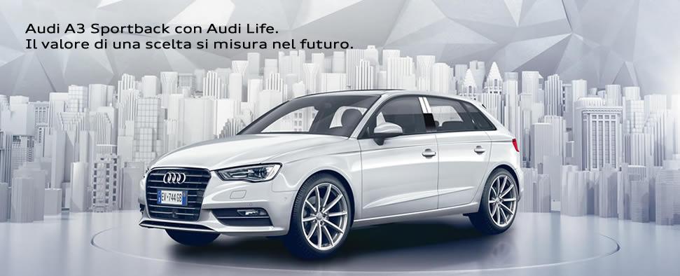 Audi A3 Soprtback con Audi Life