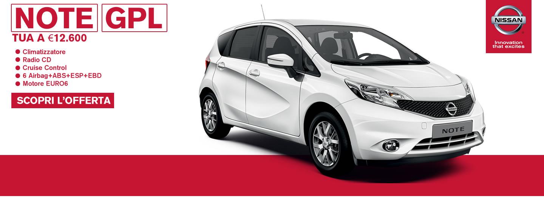 Nissan NOTE GPL tua da € 12.600