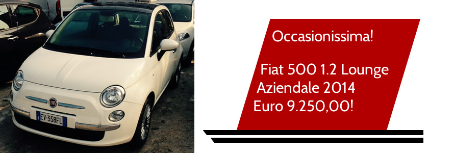 Fiat 500 1.2 Lounge   Aziendale 2014 Euro 9.250,00!