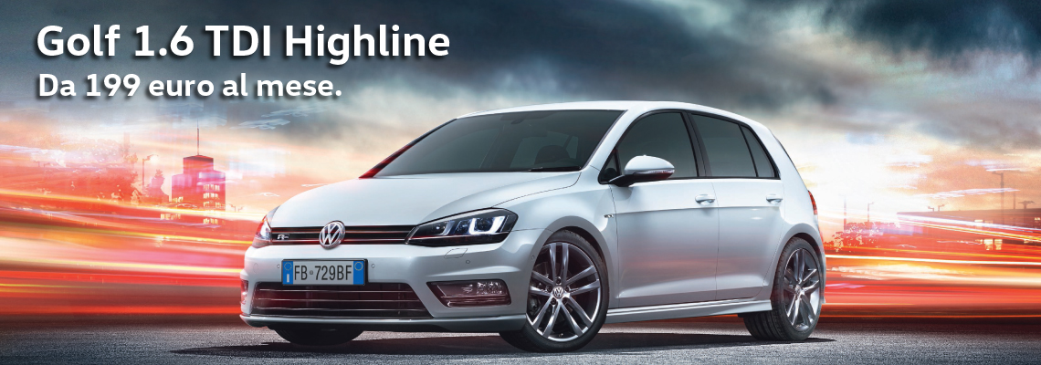 Golf 1.6 TDI Highline da 199 €/mese