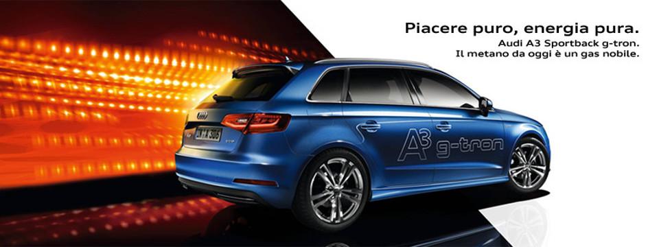 A3 g-tron: vieni a provarla presso Audi Zentrum Arona e Vercelli