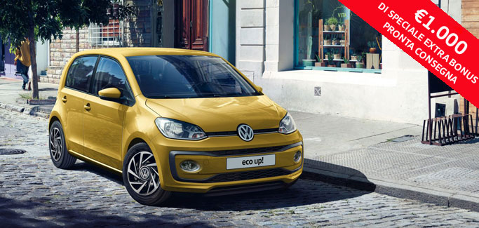 Volkswagen eco up! move up! 1.0 metano 68CV tua da €169 al mese