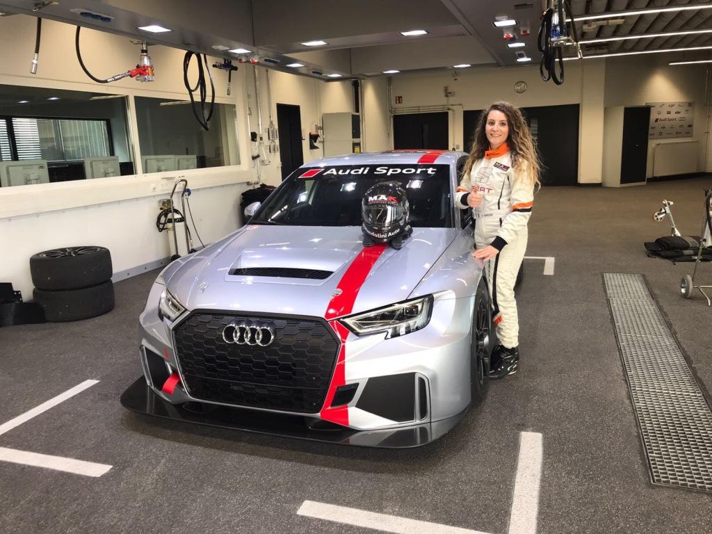 Novembre 2017 - MANDOLINI AUTO sostiene i test di Alessandra Brena in Germania
