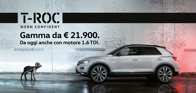 Volkswagen T-ROC 1.6 TDI tua da €199