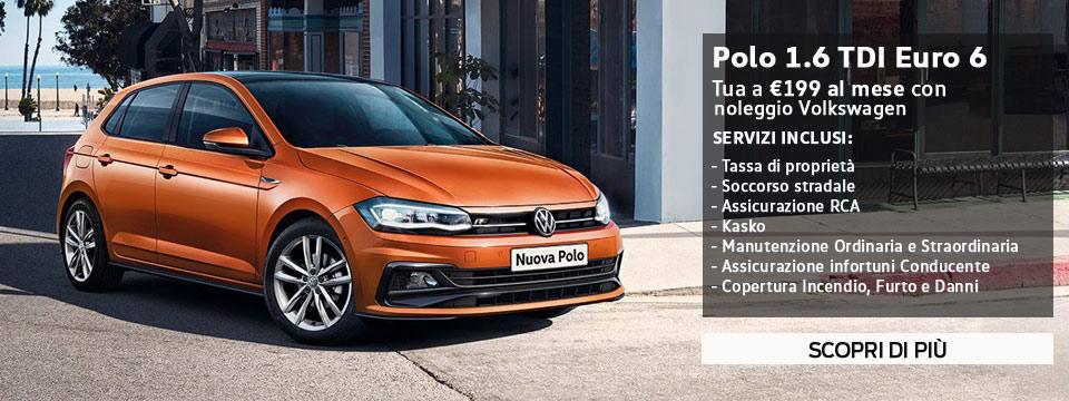 Volkswagen Polo da €199 al mese