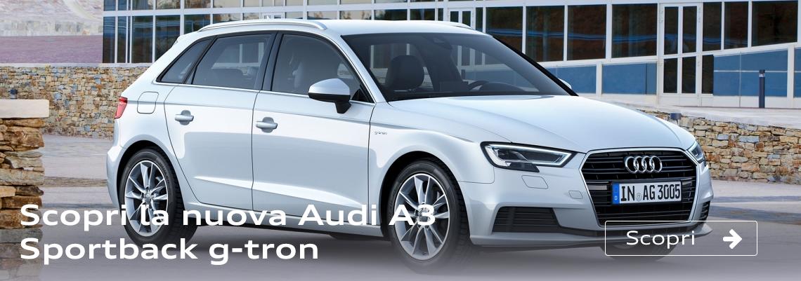 Scopri la nuova Audi A3 Sportback g-tron