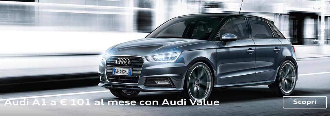 Audi A1 sportback da 199€ al mese con Audi Value