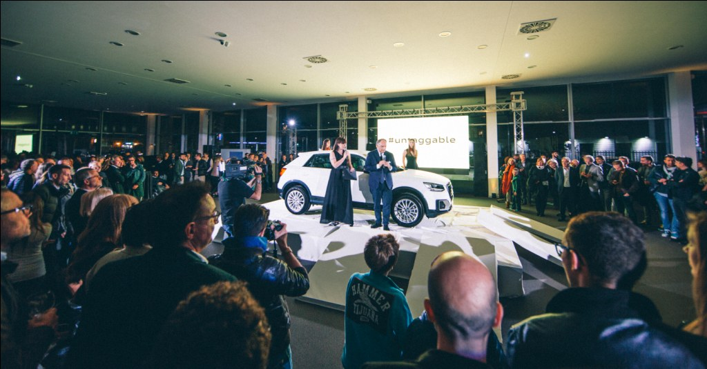 4 novembre 2016 –  Da Mandolini un debutto molto speciale per il nuovo Audi Q2!