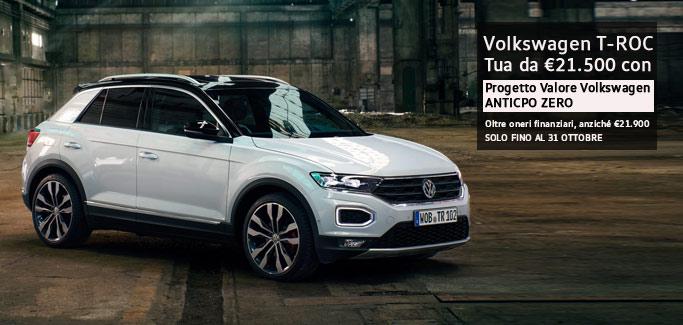 Volkswagen T-Roc tua a partire da €21.500