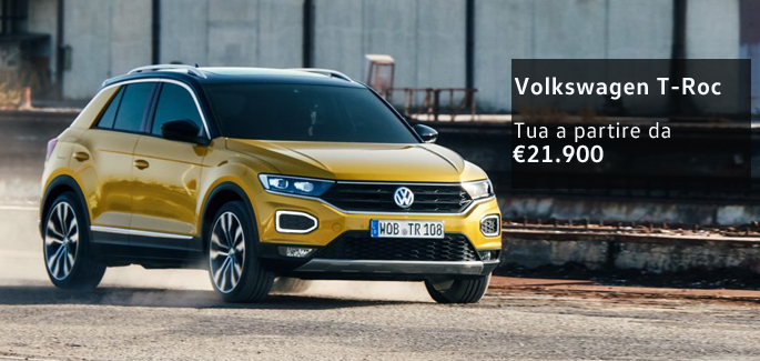 Volkswagen T-Roc tua a partire da €21.900