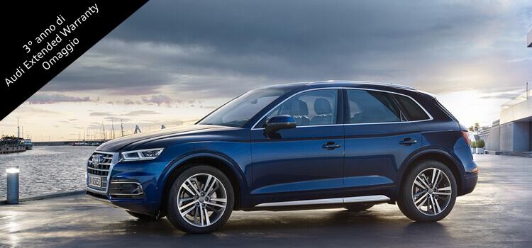 Audi Q5 con extra vantaggio fino a 3.500 € e Audi Extended Warranty omaggio