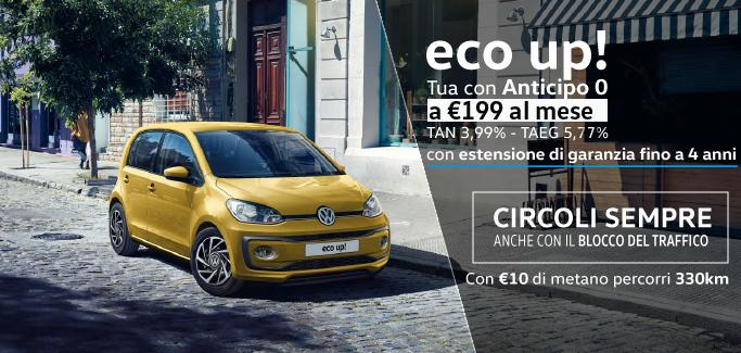 Eco up! a €199 al mese