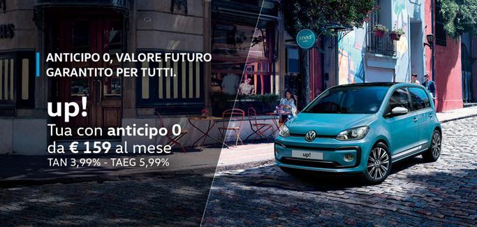 Volkswagen up! per Neopatentati a partire da €159 al mese