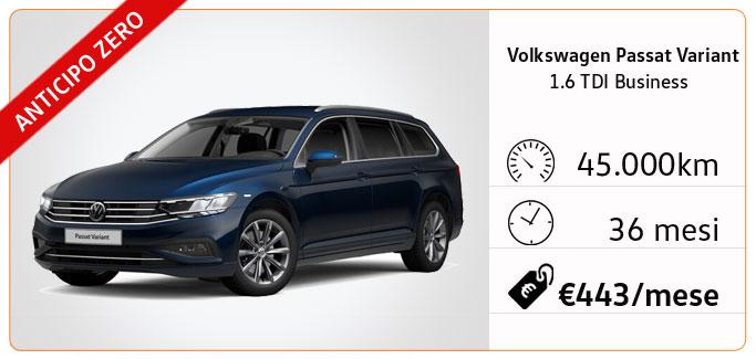 Volkswagen Passat Variant 1.6 TDI Business tua da €443 al mese