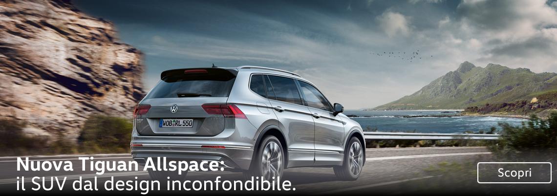 Nuova Tiguan Allspace: il SUV dal design inconfondibile.