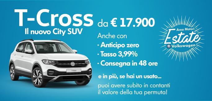 Volkswagen T-Cross tua a €17.900