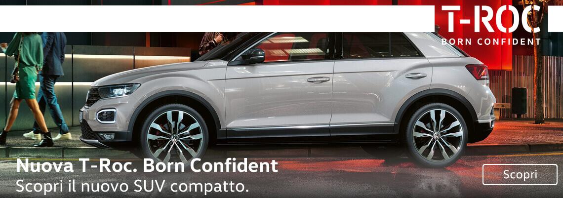 Nuova T-Roc. Born Confident. Scopri il nuovo SUV compatto