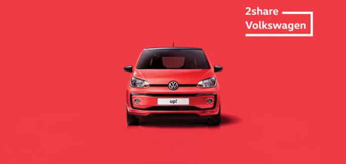 Volkswagen up! con €5 al giorno a testa