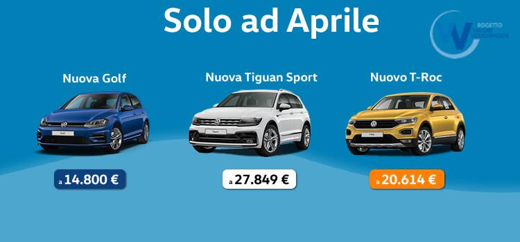 Volkswagen Reggini arrivano le nuove promozioni di Aprile