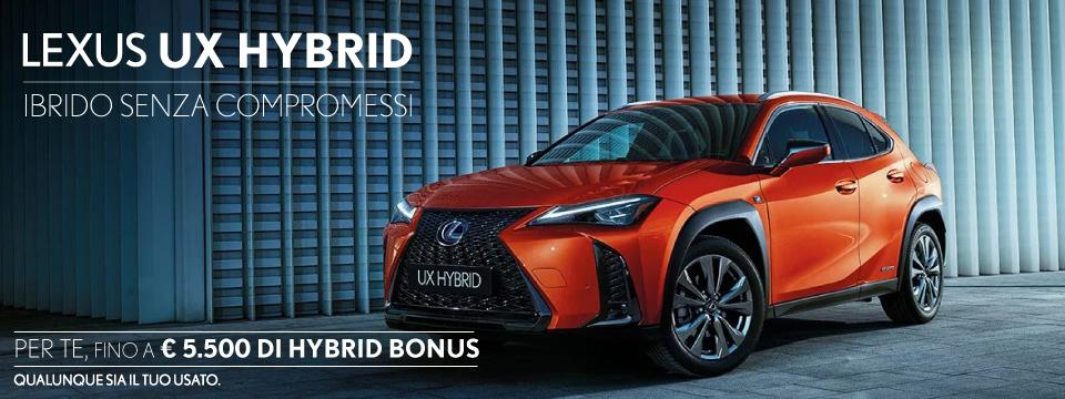 LEXUS UX: FINO A 5.500 €DI HYBRID BONUS
