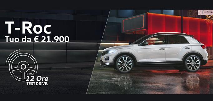 Volkswagen T-Roc - Prenota il Test Drive di 12 ore!