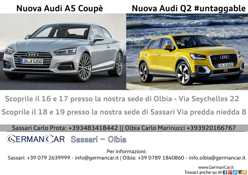 Nuova Audi A5 Coupè  &  Nuova Audi Q2 #untaggable