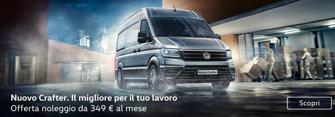 Volkswagen Crafter tuo da 349 € al mese con Noleggio Lungo Termine