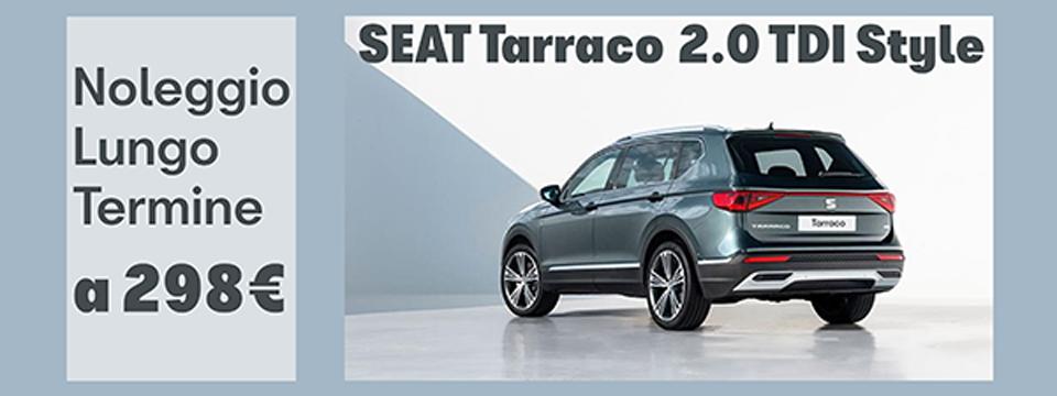 SEAT Tarraco a 298 €/mese con il Noleggio a Lungo Termine