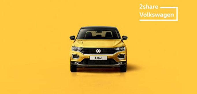Volkswagen T-Roc con €8 al giorno a testa