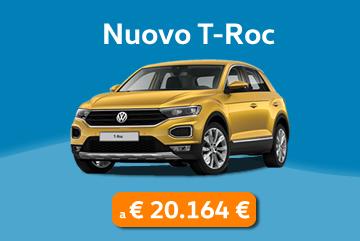 Nuovo T-Roc a 20.614€ al mese con Progetto Valore Volkswagen