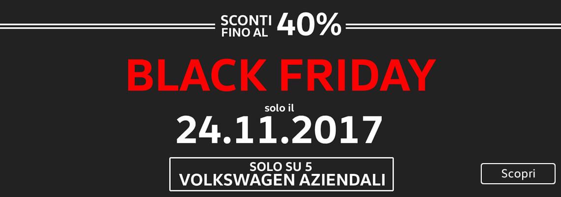 BLACK FRIDAY. 5 volkswagen aziendali scontate fino al 40%