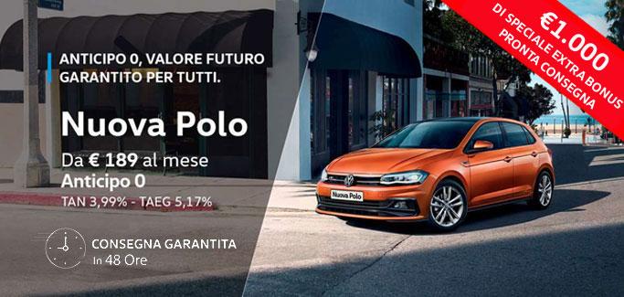 Volkswagen Polo tua da €189 al mese