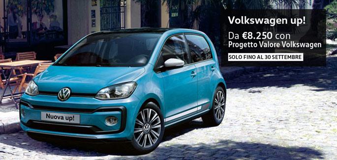 Volkswagen up! tua a partire da €8.250